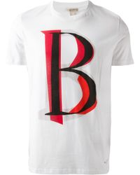 Burberry Brit 'B'' T-Shirt - Lyst