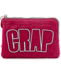 House of Holland - Croc Embossed Haircalf Bag - Pink - Lyst