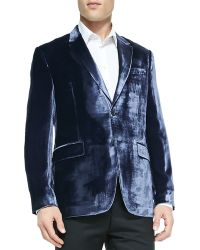 Paul Smith Shiny Velvet Jacket - Lyst