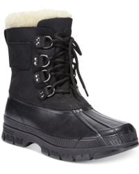 Polo Ralph Lauren Black Landen Boots - Lyst