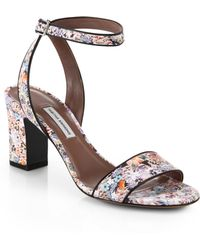 Tabitha Simmons Leticia Floral Print Leather Sandals - Lyst