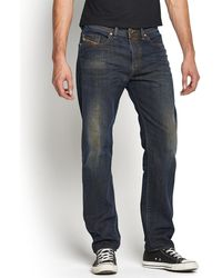 Diesel Buster 835h Mens Regular Slim Tapered Jeans - Lyst