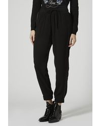 Topshop Petite Luxe Joggers - Lyst