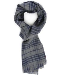Tommy Hilfiger | Navy Clyde Pr Checked Scarf | Lyst