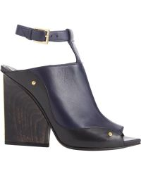Maiyet Plated-Heel T-Strap Sandals - Lyst