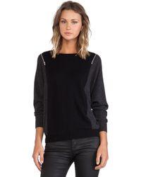 Autumn Cashmere Color Block Dolan Sweater - Lyst