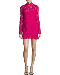 Tracy Reese - Long-sleeve Lace Mini Dress - Lyst