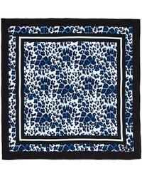 Diane von Furstenberg Silk Twill Border Leopard Scarf - Lyst