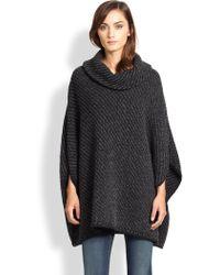 Joie Stellan Chunky-knit Wool Cashmere Poncho - Lyst