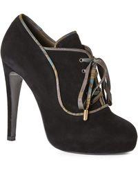 Hermès HermãˆS Black & Bronze Platform Oxfords - Lyst
