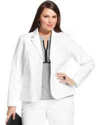 Jones New York Signature Plus Size Threebutton Blazer - Lyst