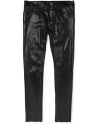 Haider Ackermann Slim-Fit Stretch-Leather Trousers - Lyst