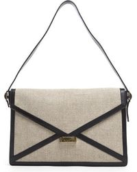 Celine Linen Diamond Envelope Bag - Lyst