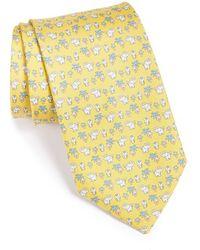 Ferragamo Elephant Print Silk Tie - Lyst