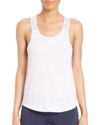Heroine Sport Jersey Wicking Gym Tank white - Lyst