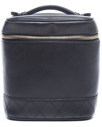 Chanel Preowned Lambskin Cosmetic Case - Lyst