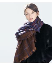 Zara Double Sided Scarf - Lyst