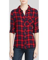 Rails Shirt - Hunter Plaid - Lyst