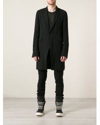 Rick Owens Vicious Long Jacket - Lyst