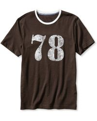 Banana Republic Heritage Quot78quot Graphic Tee Black Coffee - Lyst