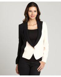 Rachel Roy Black and Rose Tuxedo Jacket - Lyst