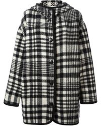 Stella McCartney Checked Oversized Coat - Lyst