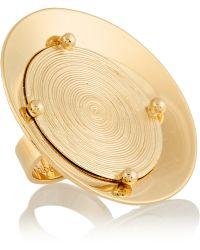 Chloé Djill Goldtone Disk Ring - Lyst
