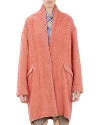 Isabel Marant Herringbone Wool Gabriel Blanket Coat - Lyst