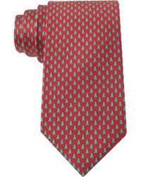 Tommy Hilfiger Christmas Tree Micro-print Tie - Lyst