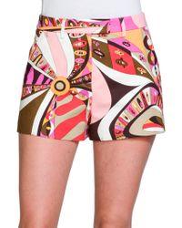 Emilio Pucci Printed Cotton Shorts - Lyst
