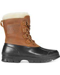 Polo Ralph Lauren Brown Landen Boots - Lyst