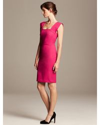 Banana Republic Roland Mouret Collection Strappy Sheath Chroma Pink - Lyst