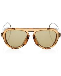Gucci Metal-Blinker Aviator-Style Sunglasses - Lyst