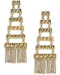 House of Harlow 1960 - Chain Linear Drop Earrings - Lyst