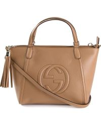 Gucci Soho Calf-leather Tote - Lyst