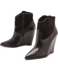 Ash Jude Wedge Booties Black - Lyst