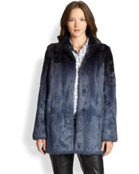 RED Valentino Ombre Fur Coat - Lyst