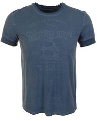 True Religion Tailored Goods T Shirt Smoke - Lyst