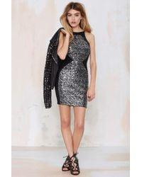 Nasty Gal Dress The Population Rowen Sequin Dress - Lyst