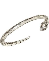 Pamela Love Champagne Diamond Serpent Bangle - Lyst
