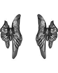 Georg Jensen - Askill Oxidated Sterling Silver Earrings - Lyst