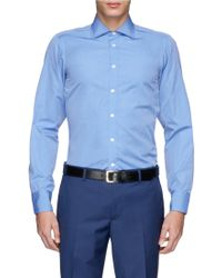 Turnbull & Asser End-On-End Poplin Shirt blue - Lyst