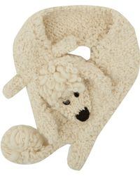 Eugenia Kim Cream Fifi Poodle Knitted Collar - Lyst