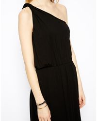Asos Maxi Dress with One Shoulder - Lyst