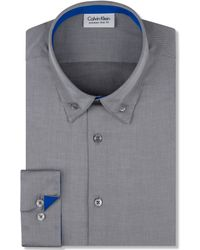 Calvin Klein X Extra Slim Grey Pop Dress Shirt - Lyst