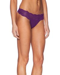 Cosabella Dolce Ribbed Lace Thong - Lyst