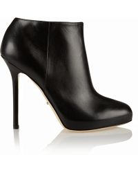 Sergio Rossi Barbie Leather Ankle Boots - Lyst