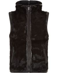 Michael Kors Reversible Fur and Leather Gilet - Lyst