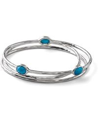 Ippolita - 'rock Candy' Sterling Silver Oval Bangles - Sterling Silver/ Hematite (set Of 3) - Lyst