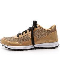 Sam Edelman Dax Jogging Sneakers - Gold - Lyst